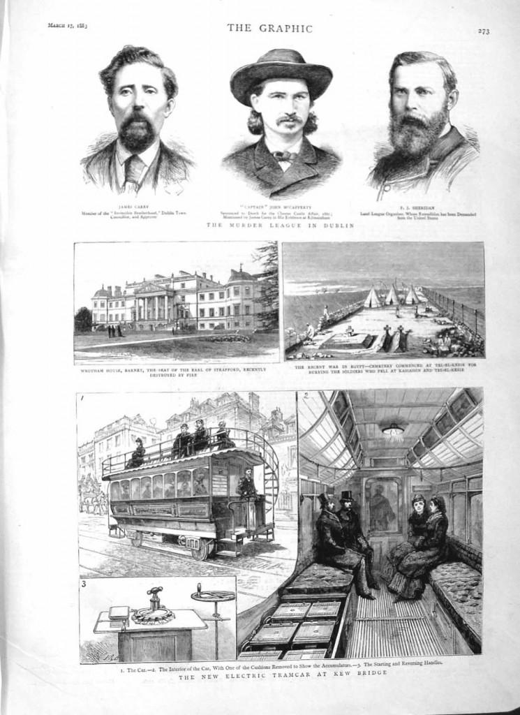 Antique-Print-1883-Electric-Tramcar-Kew-Bridge-Wrotham