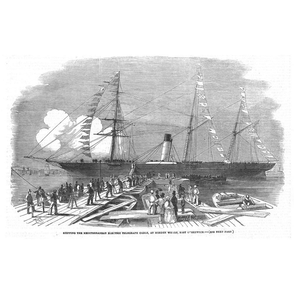 GREENWICH-Shipping-Electric-Telegraph-Cable-at-Morden-Wharf