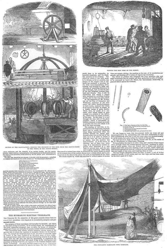 Manufacture-of-The-Submarine-Electric-Telegraph-Antique